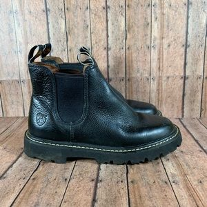 Ariat Black Leather Ankle Boots Size 6